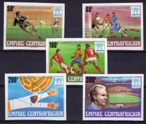 Central African Empire 1978 Sc#370/374 WORLD CUP 78 WINNERS SET(5) IMPERF.MNH