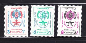 Saudi Arabia 252-254 Set MNH Malaria Eradication (A)