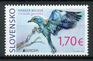 Slovakia 2019 MNH Birds European Roller Europa 1v Set Rollers Stamps