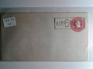 SCOTT # UC8c MINT DIE # 9 AIR MAIL OVERPRINT !!! ENTIRE !!!