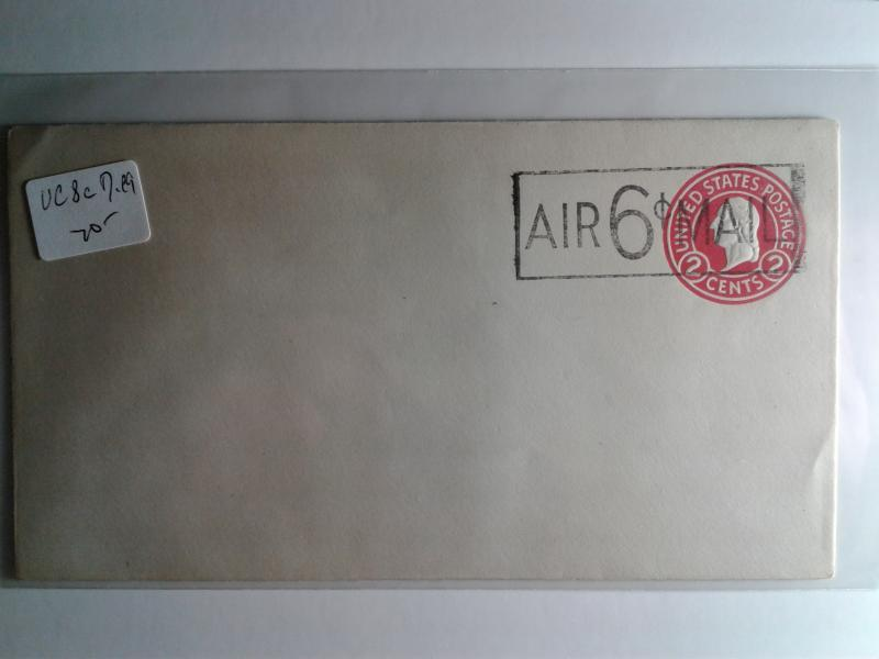 SCOTT # UC8c MINT DIE # 9 AIR MAIL OVERPRINT !!! ENTIRE !!!