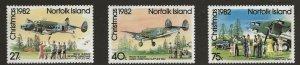 Norfolk Island (1982)  - Scott # 299 - 301,   MNH