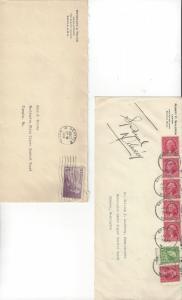 U.S Postal Stationery, 7 Washington Covers, 1934, Mailed to State Liquor Board