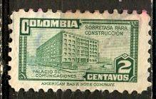Colombia; 1946: Sc. # RA24: O/Used Single Stamp