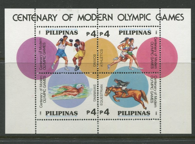 STAMP STATION PERTH Philippines #2426 Olympic Games Souvenir Sheet MNH CV$5.00