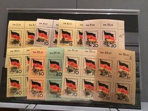 Germán Democratic Republic 10th Anniversary 1959  MNH  stamps blocks R23790