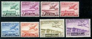 HERRICKSTAMP IRAQ Sc.# C1-8 1949 Airs Complete Mint NH
