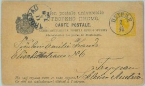 88936 - MONTENEGRO - Postal History - POSTAL STATIONERY CARD from CETIJNIE 1896