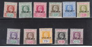 Seychelles #38s - #45s Mint Fine - Very Fine Original Gum Hinged Specimen Set