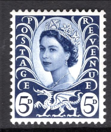 Great Britain Wales and Monmouth 11 MNH VF