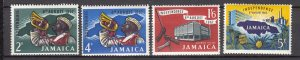 J27468 1962 jamaica set mh #181-4 designs
