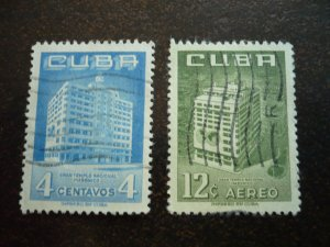 Stamps - Cuba - Scott#558,C135 -Used Set of 2 Stamps