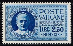 ITALY VATICAN CITY STAMP #E2 1929 Express Stamp MNH/OG