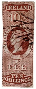 (I.B) QV Revenue : Ireland Registration of Deeds 10/- (1861)