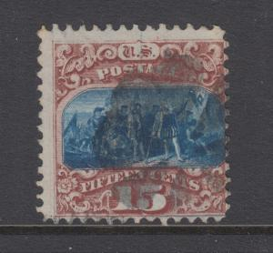 US Sc 118 used 1869 15c brown & blue Columbus G Grill, sound & scarce