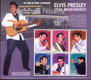 Guyana MNH S/S Young Elvis Presley Remembered Large Size