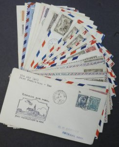 EDW1949SELL : CANADA Collection of 24 very interesting First Flight covers.