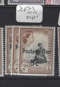 SWAZILAND  (P1510B)  POSTAGE DUE SG D7-9     MOG