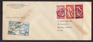 Lisbon Portugal Chicago IL 1939 First Flight #10 Cover