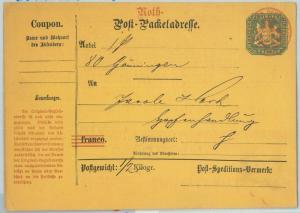 66747 - GERMANY Württemberg - Postal History -  STATIONERY Postal Coupon