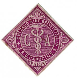 (I.B) France Cinderella : Trade Stamp (Chezaud Aine Brevette)