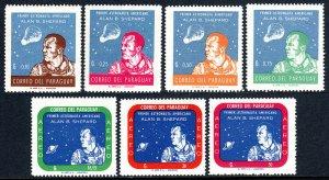 Paraguay 610-616, MNH. Alan B. Shepard, First US Astronaut, 1961