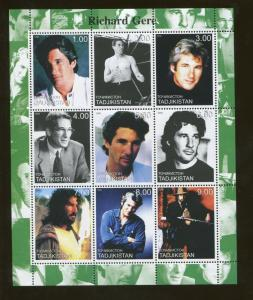 Tajikistan Commemorative Souvenir Stamp Sheet - Actor Richard Gere