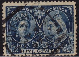 Canada - 1897 - Scott #54 - used - Squared Circle cancel