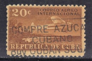 CUBA SC# C7  **USED** 1931  20c   AIRMAIL  SEE SCAN