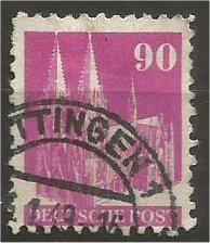 GERMANY, 1948, used 90pf rose lilac, Munich Scott 657