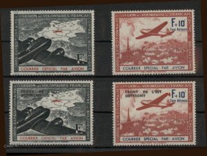 Germany French Volunteer Legion Airplane East Front MiII-V MNH Sets 96478