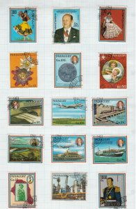 paraguay stamps page ref 18012