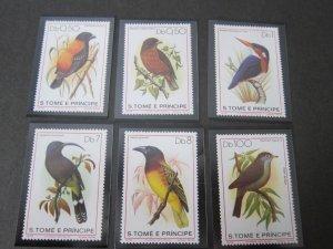St. Thomas & Prince Islands 1979 Sc 541-6 Bird set MNH
