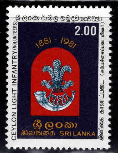 Sri Lanka Scott 599 MNH** 1981 Ceylon light infantry stamp