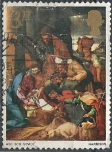 Great Britain 522 (used) 3p Christmas, Adoration of Shepherds (1967)