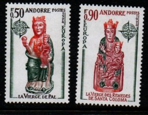 Andorra (Fr) Sc 232-33 1974 Europa stamp set mint NH