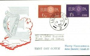 EIRE Ireland Fine First Day Cover EUROPA FDC Cat £35 1960 {samwells-covers}DA229
