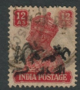 MUSCAT 1944 Al-Busaid opt on India - Forged overprint and cancellation.....15378