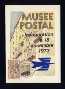 FRANCE - 1973 - Yv.1782 0fr50 MUSÉE POSTAL sur CARTE MAXIMUM 1er JOUR FDC