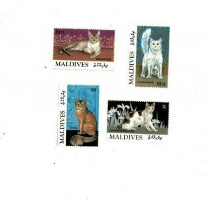 Maldives MNH Set Of Domestic Cats MEOW!!!! PURR!!!!