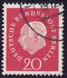 Germany Berlin - 1959 - Scott #9N167 - used - Heuss