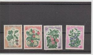 St. Pierre & Miquelon  Scott#  400-403  MH  (1970 Berries)