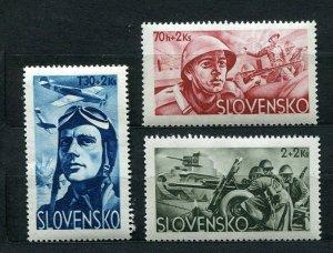 SLOVAKIA WW2 GERMAN PUPPET STATE 1944 SLOVAK LEGION SCOTT B14-B16 PERFECT MNH