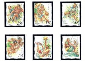 Singapore 654-59 MNH 1993 Southeast Asian Games    (KA)