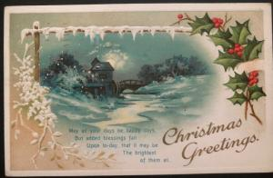 1911 Utica NY USA Picture Postcard Cover Christmas seal  #wx7 To Detroit MI