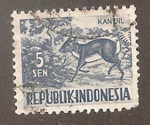Indonesia 424 - Used - Chevrotain (Animal) (1)