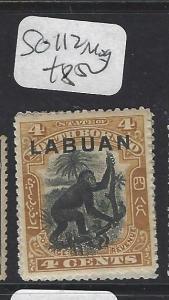LABUAN  (P1601BB)  4C  MONKEY  SG 112   MOG