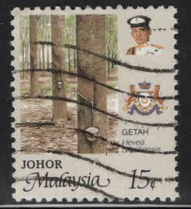 MALAYSIA Johor Scott 194 Used Agriculture plant stamp 1986