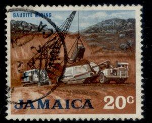 JAMAICA QEII SG315, 20c red-brown, black & light blue, FINE USED.
