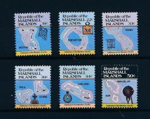 [56945] Marshall Islands 1985 Definitives Maps Islands MNH